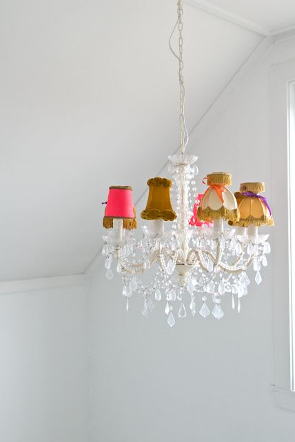 Make mismatched chandelier shades life unstyled if you visit the fjeldborg blog be sure to have google translate it from norwegian to english its a giggle a minute aloadofball Gallery