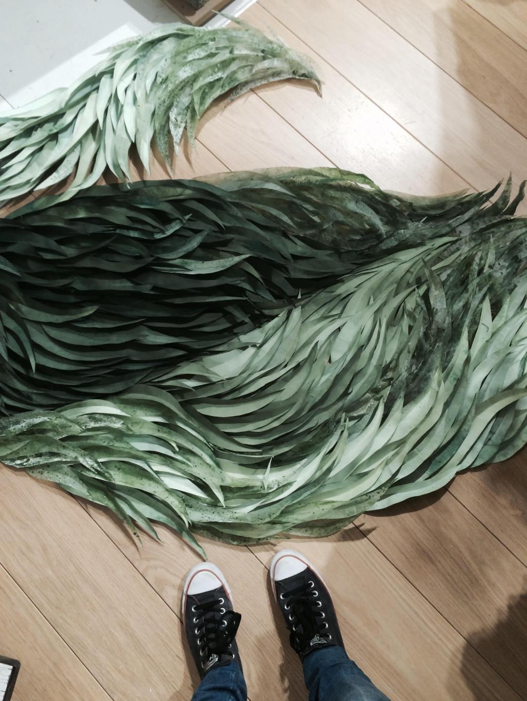 Green leaves display Anthropologie Emily Henson