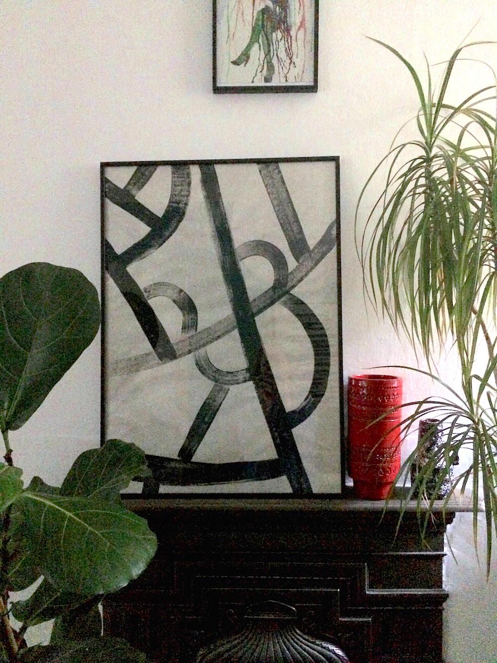 black and white diy art emily henson life unstyled