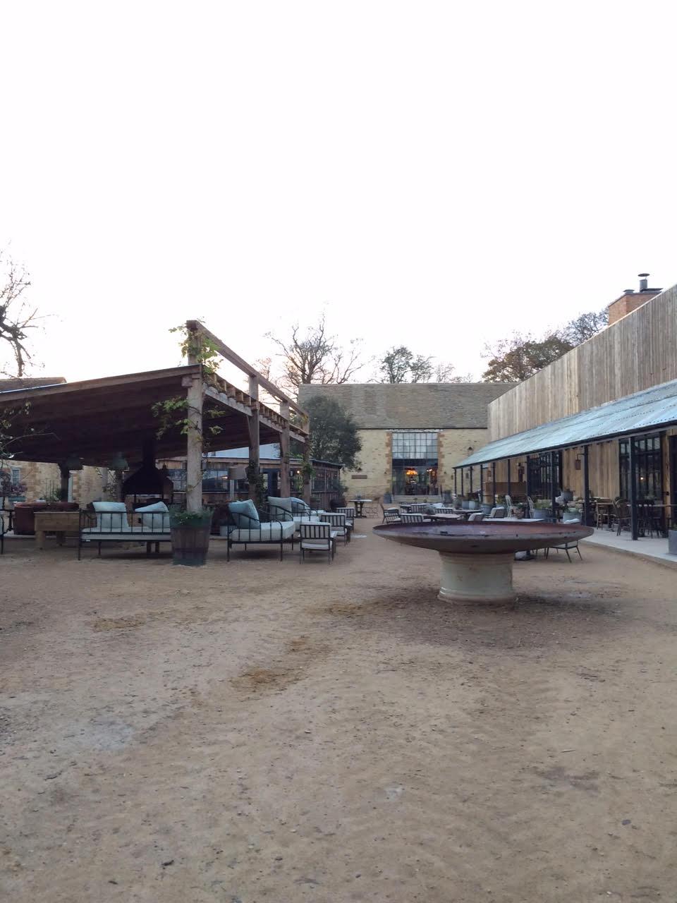 Soho Farmhouse courtyard