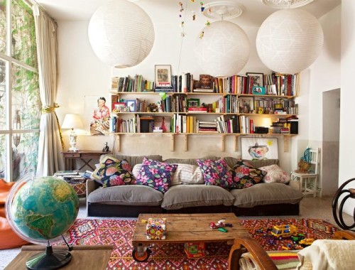 Spanish ecelctic home via Life Unstyled