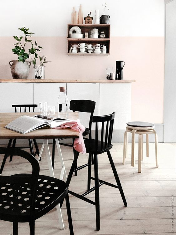 Life Unstyled pink kitchen