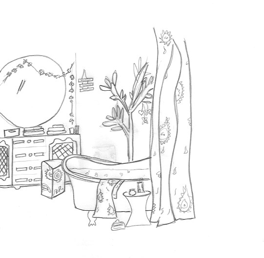 Emily Henson sketch for Primark homeware